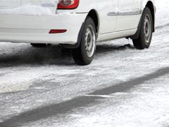 凍結した道路
